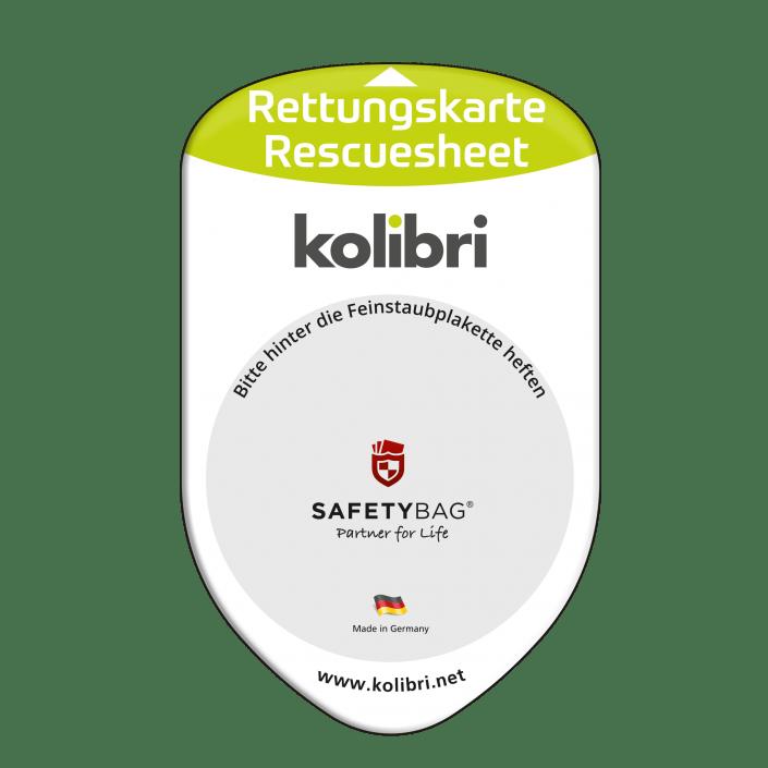 Werbung Referenzen Unternehmen KOLIBRI – SAFETYBAG® –Die Rettungskarten-Halterung Hülle Tasche für jedes Auto –Fuhrpark Mitarbeiter nachhaltiges Werbegeschenk Give-away