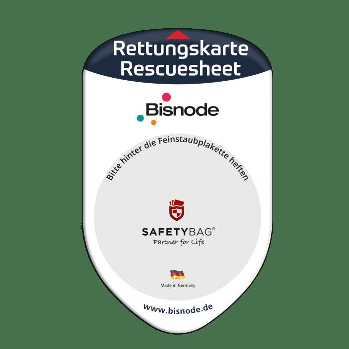 Werbung Referenzen Unternehmen BISNODE – SAFETYBAG® –Die Rettungskarten-Halterung Hülle Tasche für jedes Auto –für Fuhrpark Mitarbeiter nachhaltiges Werbegeschenk Give-away