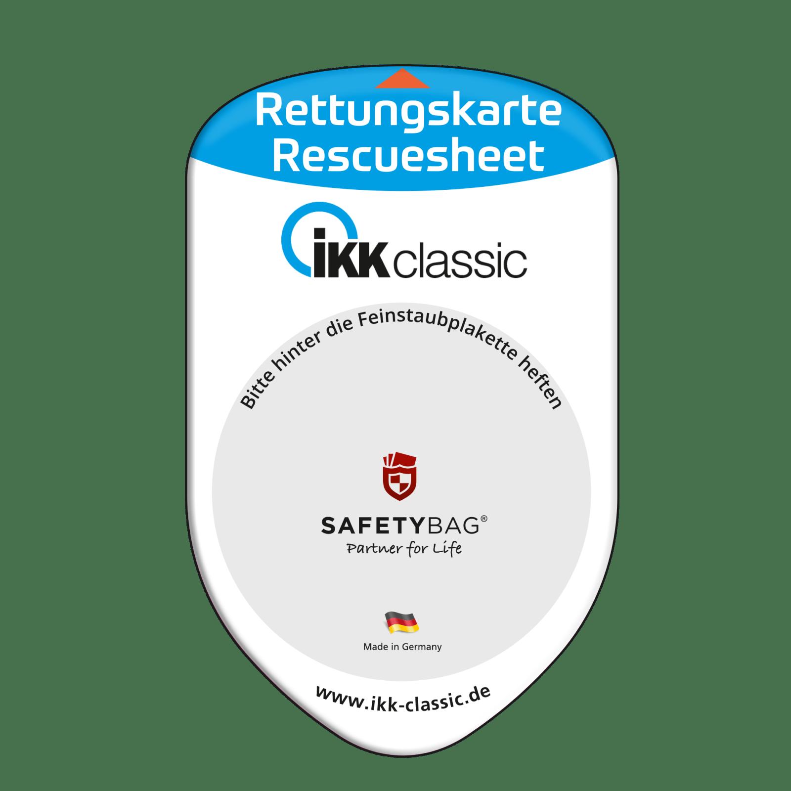 Werbung Referenzen Unternehmen IKK-classic – SAFETYBAG® –Die Rettungskarten-Halterung Hülle Tasche für jedes Auto –für Fuhrpark Mitarbeiter nachhaltiges Werbegeschenk Give-away