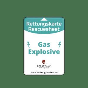 SAFETYBAG® –Die Rettungskarten-Halterung Hülle Tasche für jedes Auto – Shop Produkt Variante S Gas Explosive für Autogas gasbetriebene Fahrzeuge –Position an der Seitenscheibe oder Frontscheibe